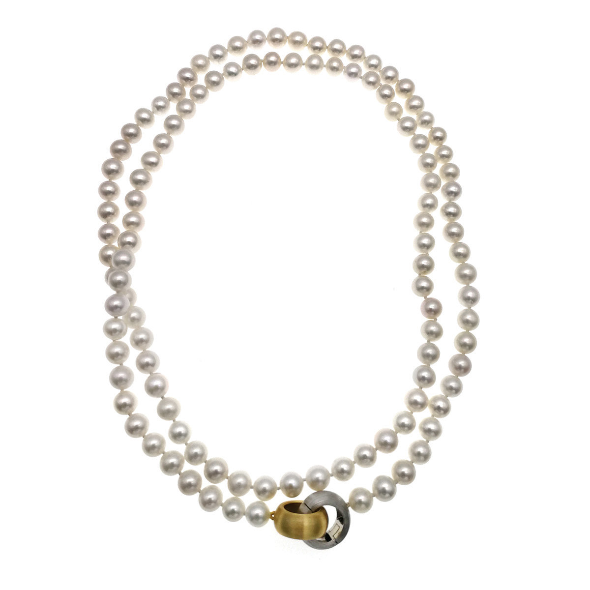 Infinity- 7-8mm Cultured fresh water pearl with 925 silver necklace