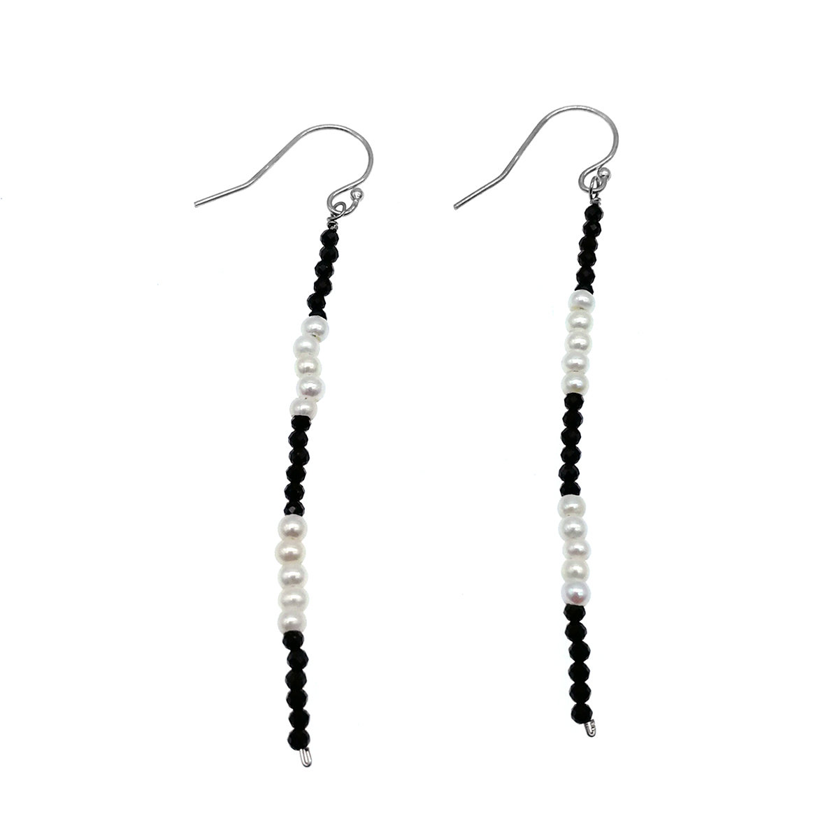 Spinel with Cultured fresh water pearl Earring