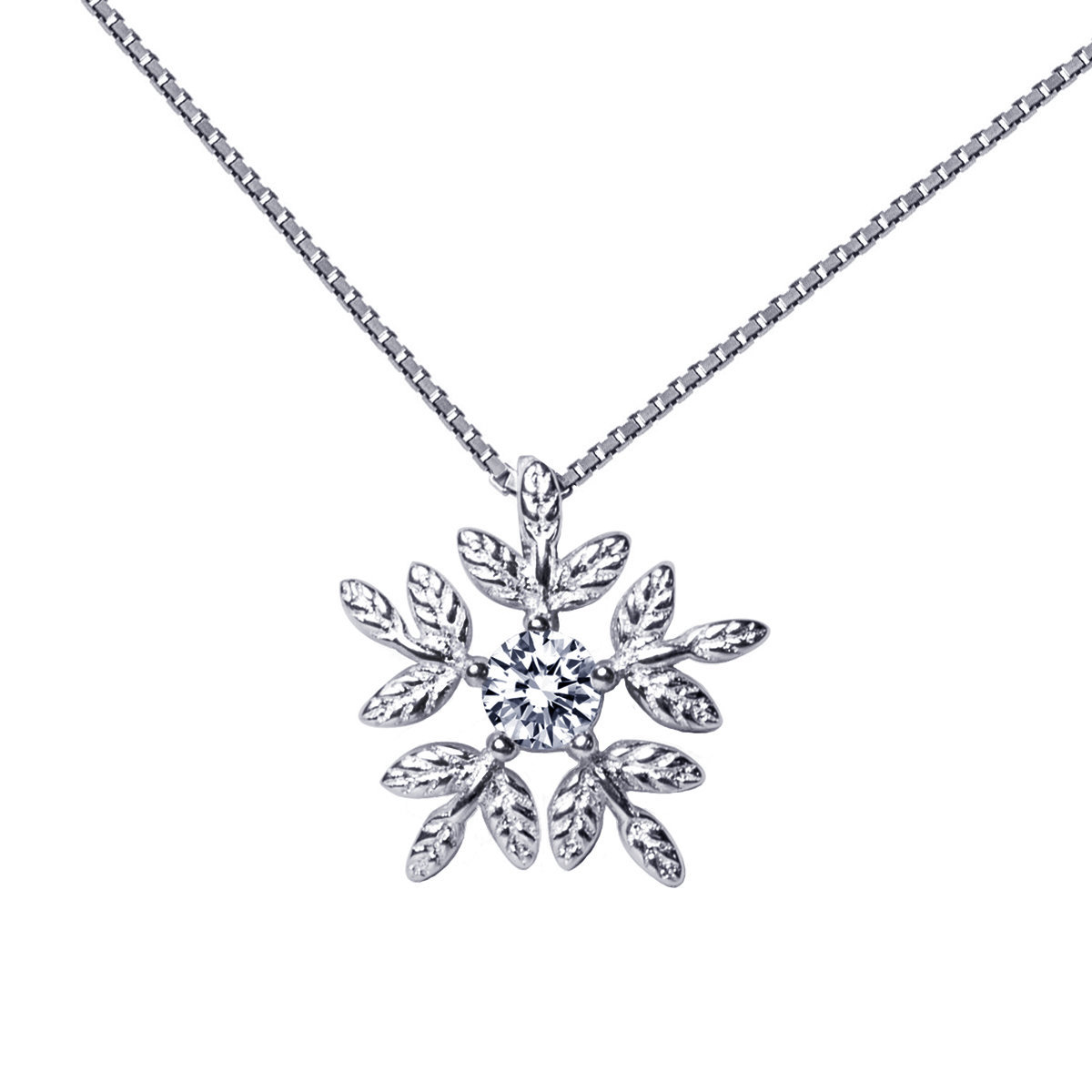 Winter- 925 Silver mounted with cz earring