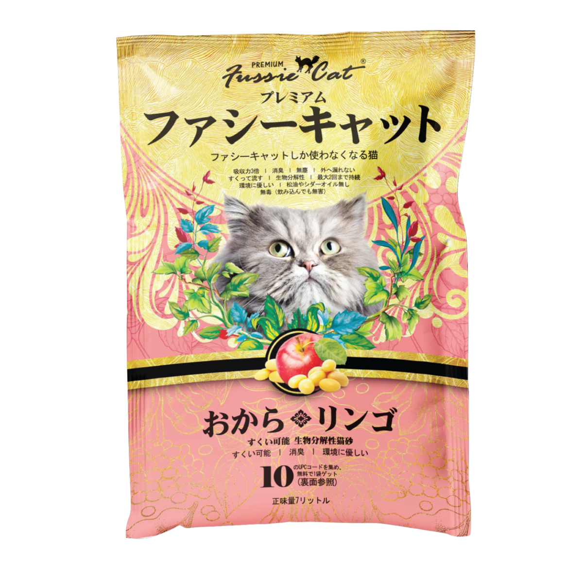 Fussie Cat Soybean Apple Litter (Japanese) 7L裝X 6 Bags
