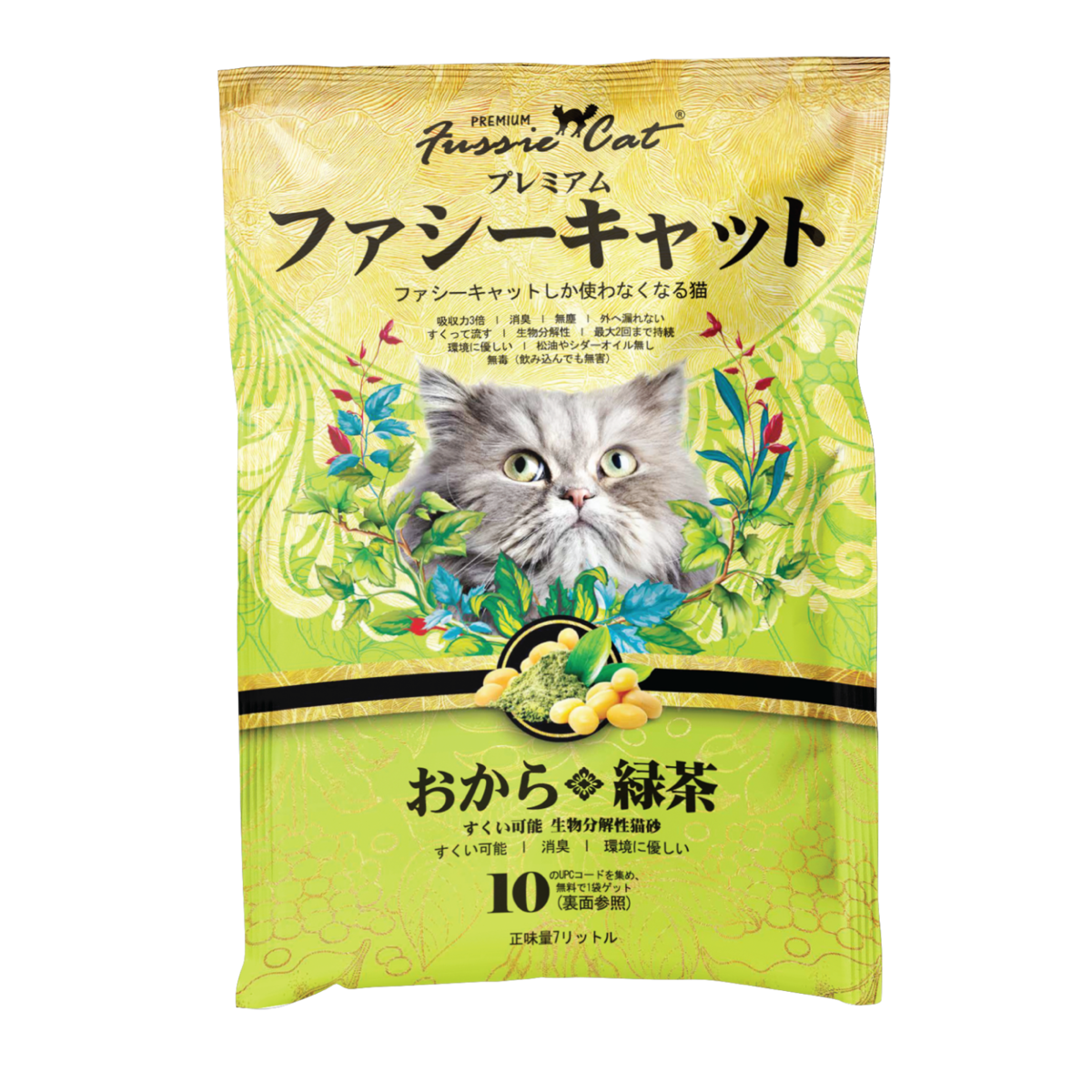 Fussie Cat Soybean Green Tea Litter (Japanese)