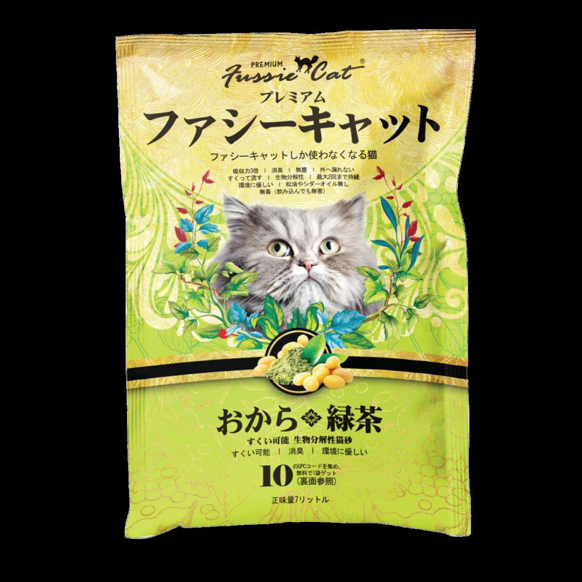 綠茶味豆腐貓砂 7L裝X 3包