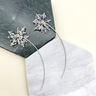 【下雪了】水晶925純銀耳環   【2對1SET】【聖誕節禮物】【浪漫&有型的聖誕節】