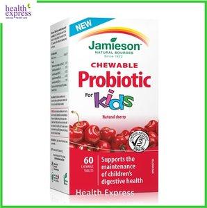 Jamieson 兒童天然益生菌 50 億  咀嚼片 (野櫻桃味) 60 粒 60 粒咀嚼片