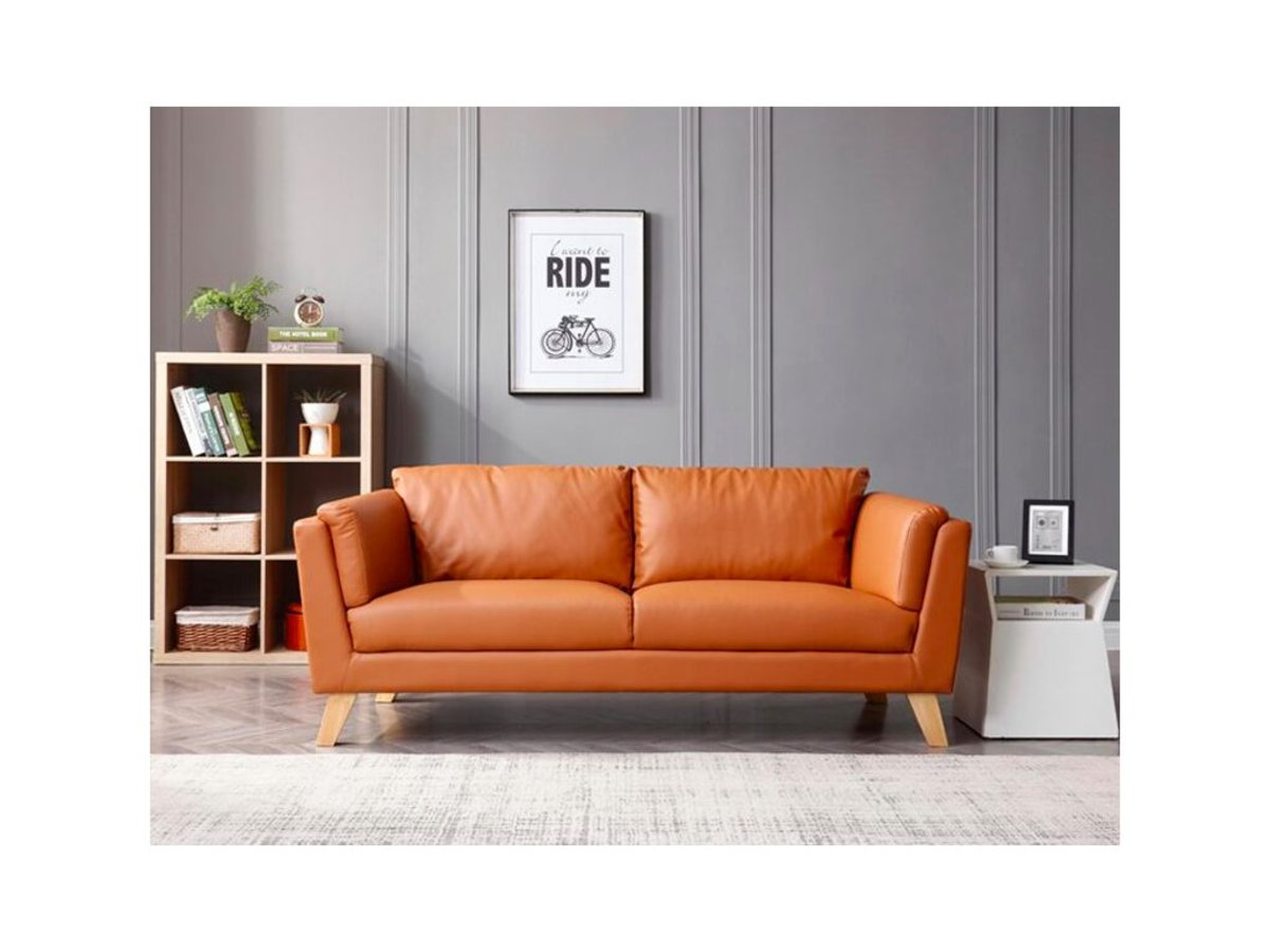 3 seater minimalist style technology leather sofa