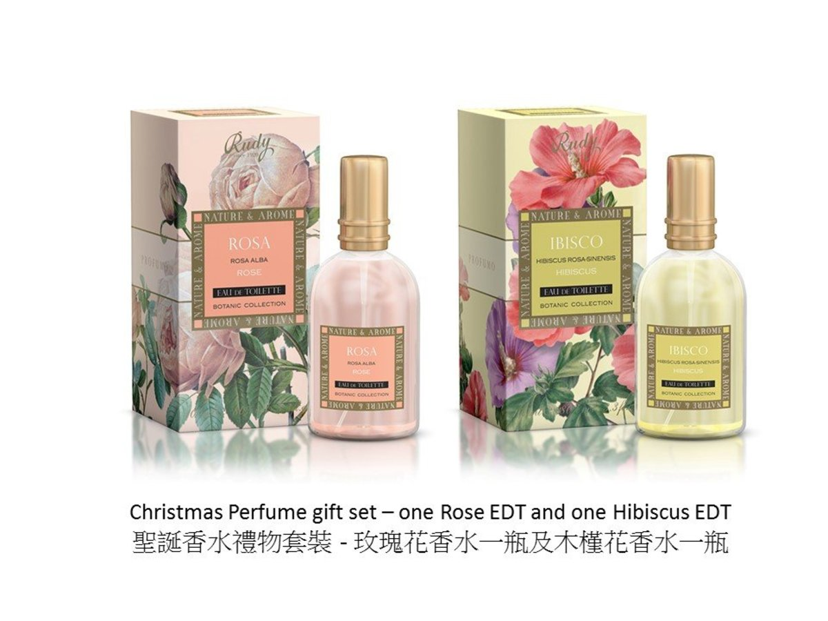 New Year Perfume Gift Set - Rose and Hibiscus