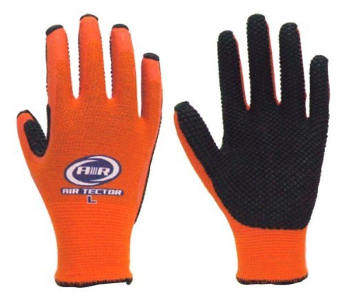 158# ATOM Breathable Non-Slip Gloves - M - Black & Orange (Dealer Goods)