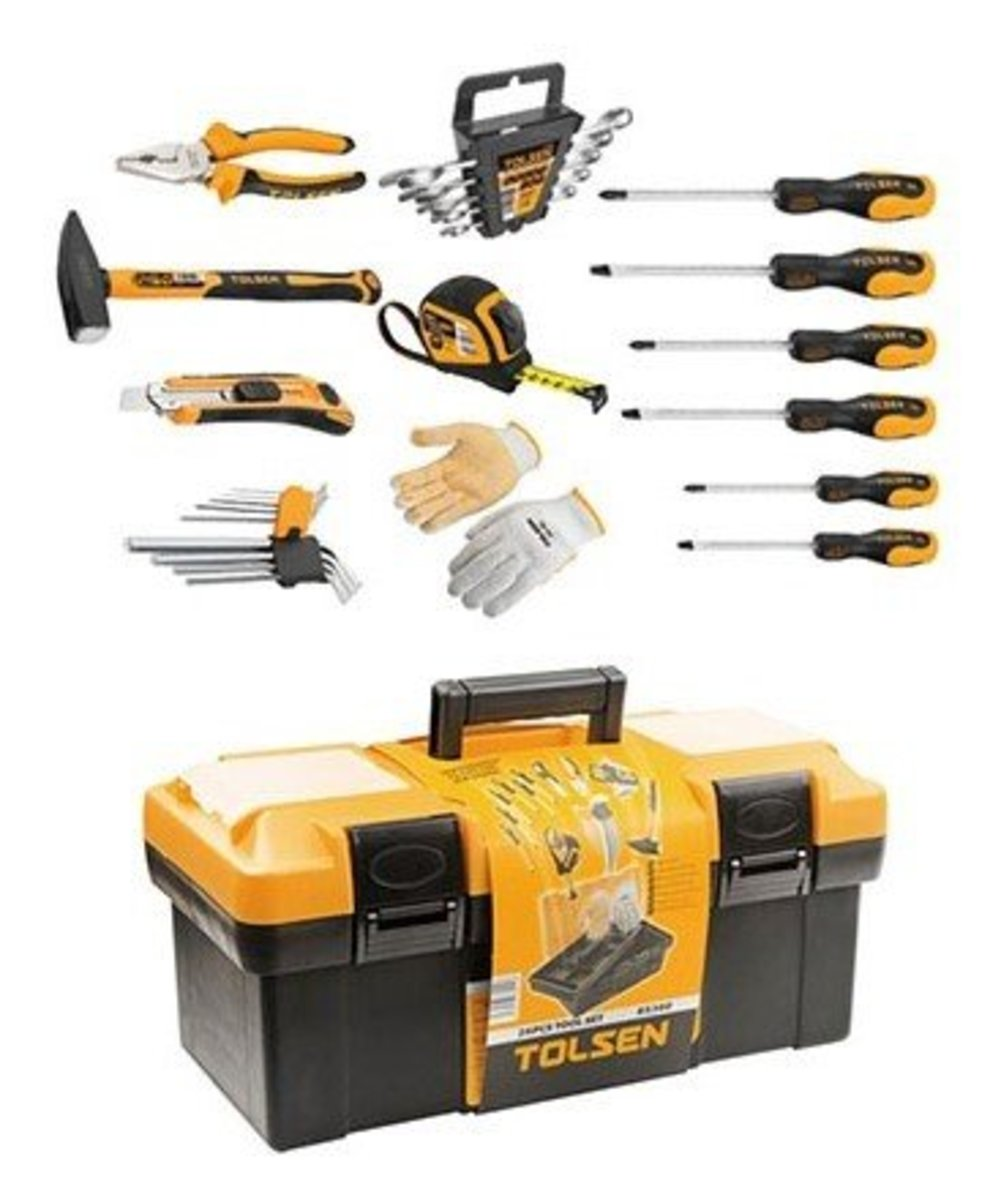 85360# TOLSEN 26pcs Tool Set + Toolbox (Dealer Goods)
