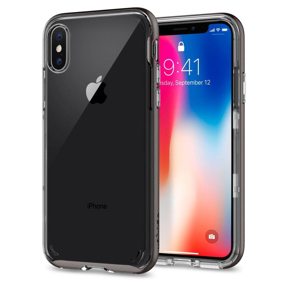 iPhone X Case Neo Hybrid Crystal - Gunmetal