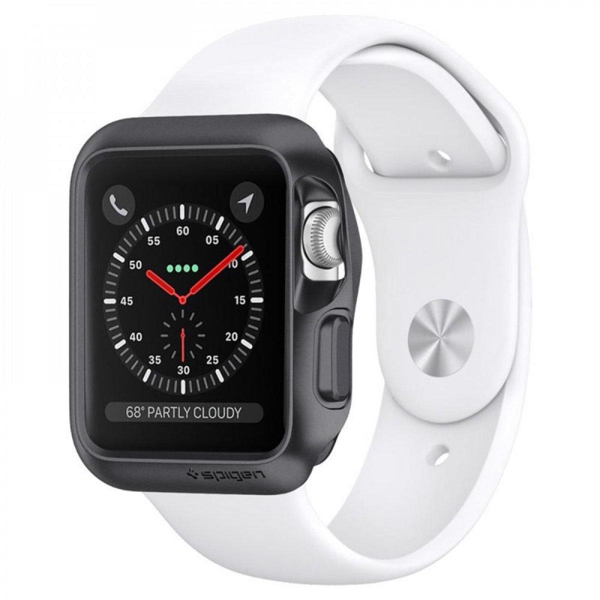 Apple Watch Series 3/2/1 (42mm) Case Slim Armor - Space Gray