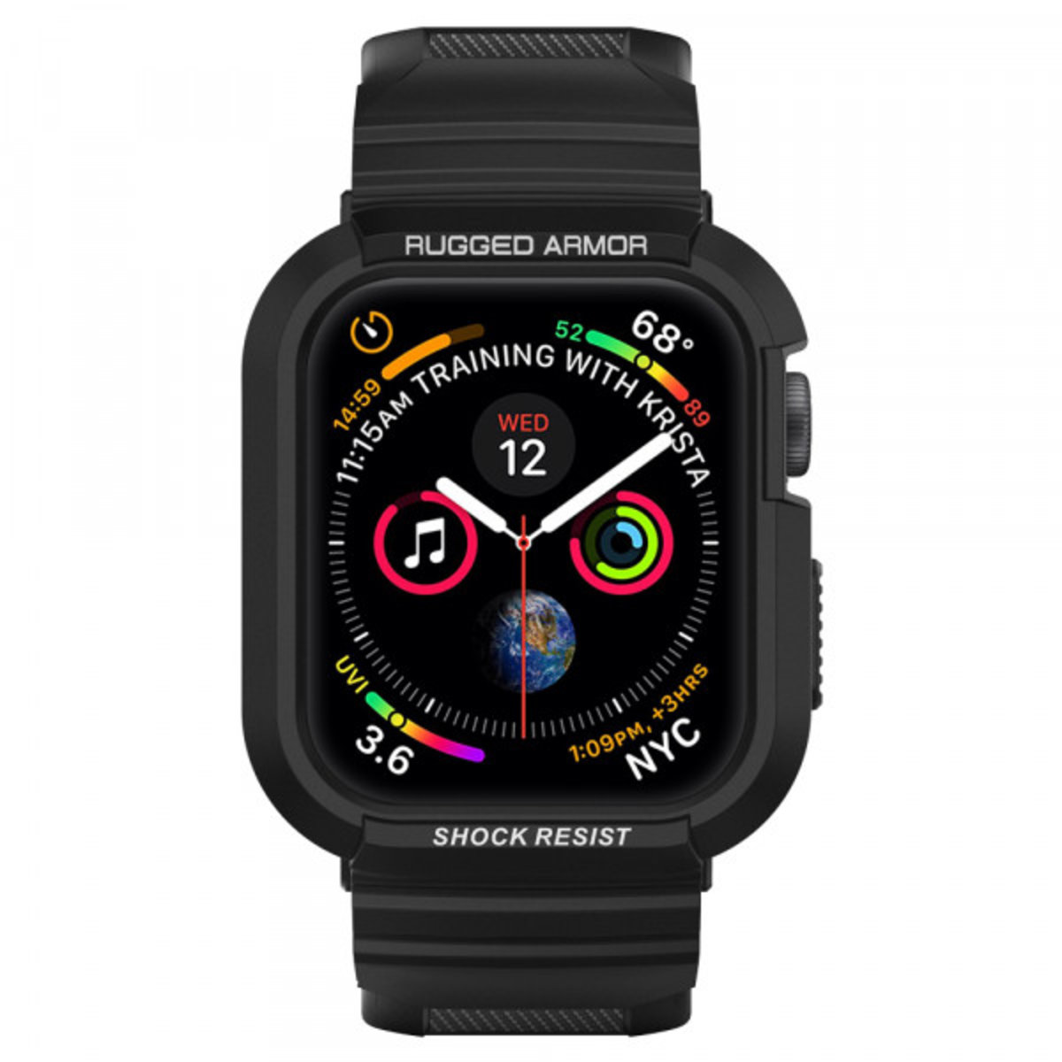 Apple Watch Series 4 (44mm) Case Rugged Armor Pro - Black