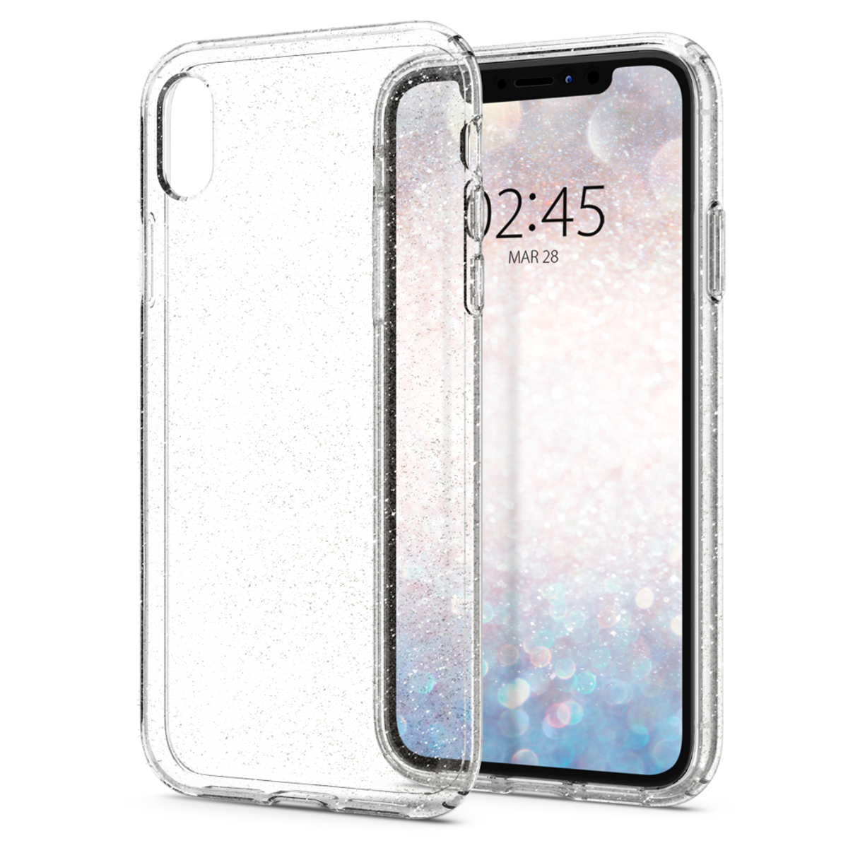 iPhone XR Case Liquid Crystal Glitter - Crystal Quartz