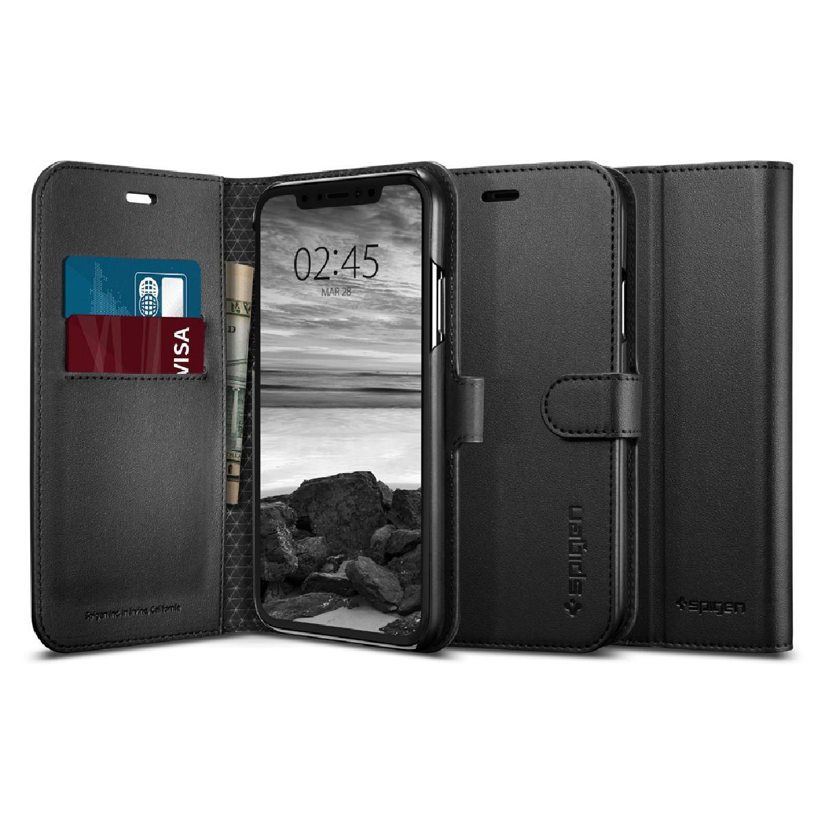 Spigen iPhone XR Wallet S 保護殼 - 黑