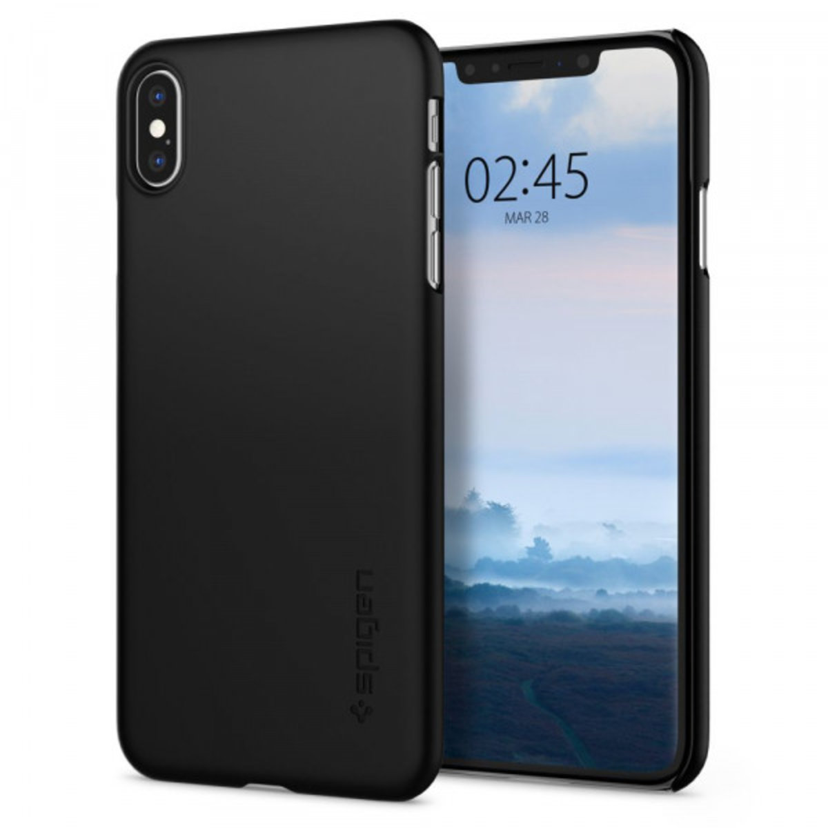 Spigen iPhone XS Max Case Thin Fit - Black