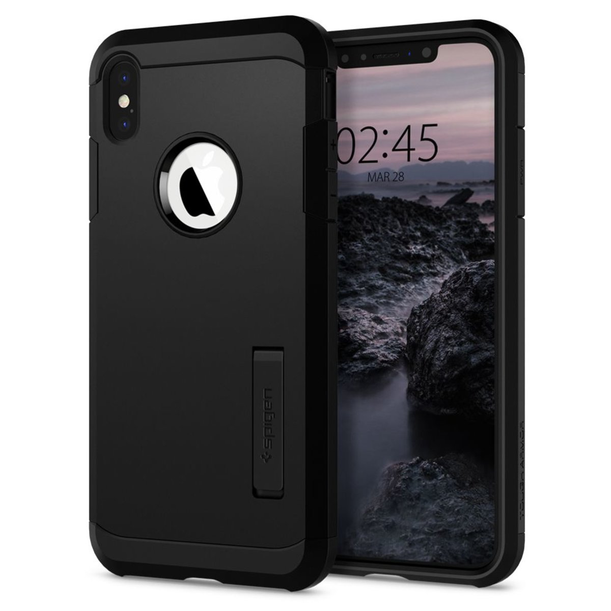 Spigen iPhone XS Max Case Tough Armor - Black