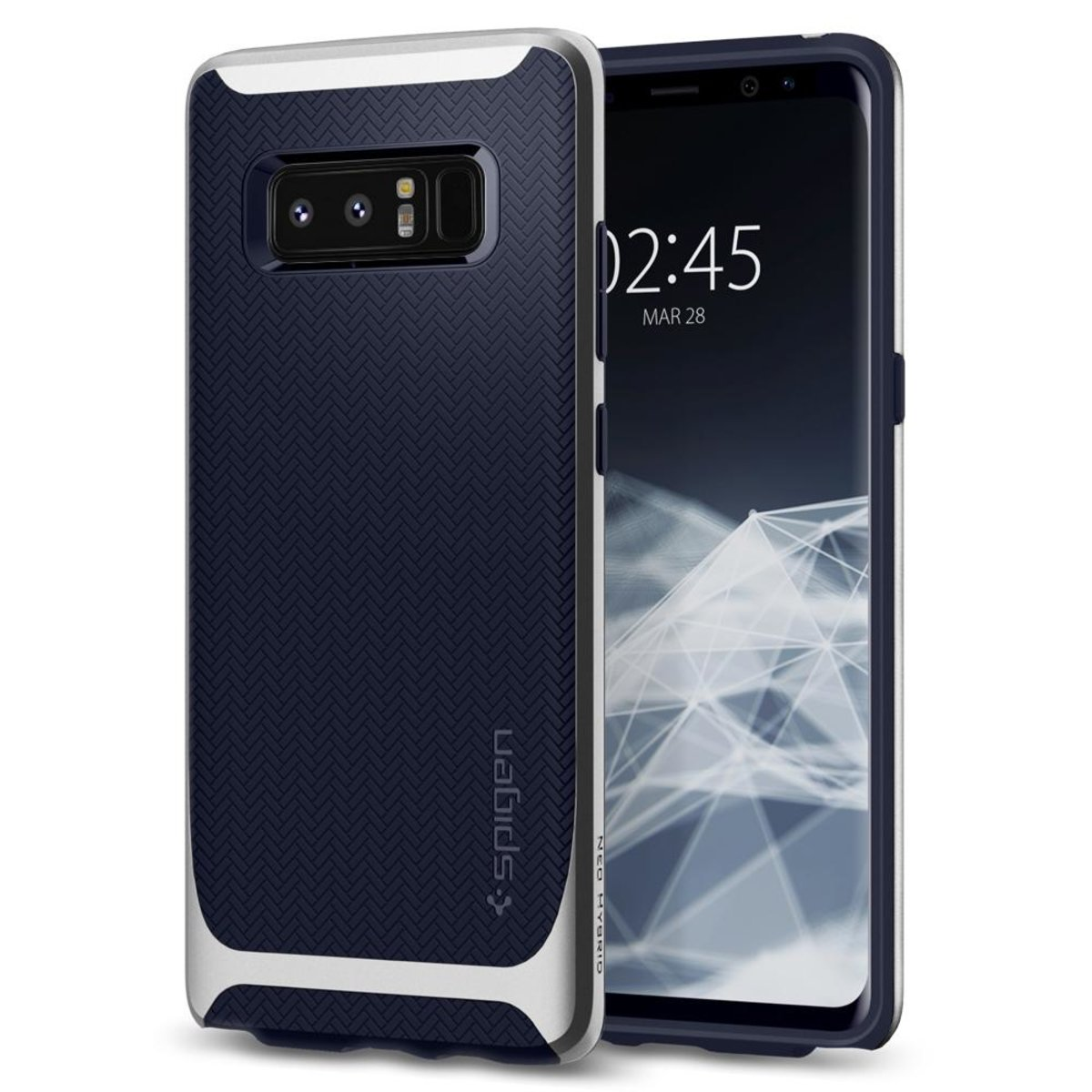 Galaxy Note 8 Neo Hybrid 保護殼 - 銀