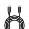USB-C to Lightning fast charge Sync cable 1M - MFi certified - Black