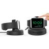 Apple Watch Charger 2 in 1 Unique design with stand - MFi certified - Black
