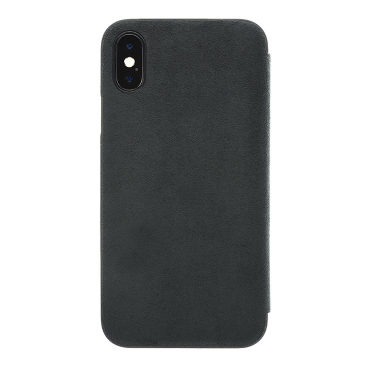 Ultrasuede Flip Case for iPhone X - 黑