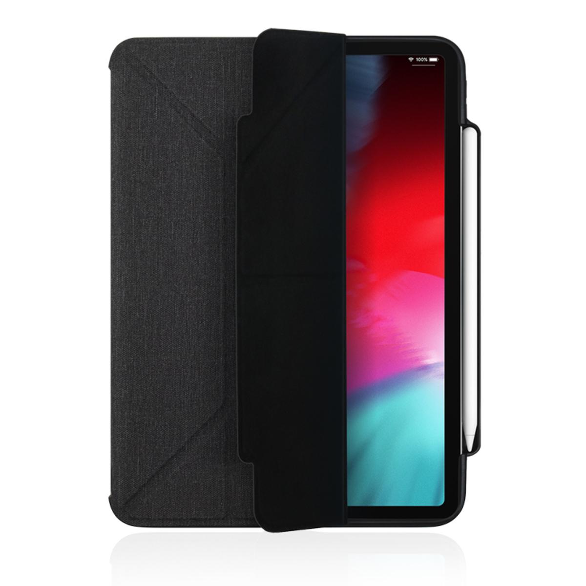 Amos QCAC Folio case for iPad Pro 11 (2018) with Pencil Holder - Dark Grey