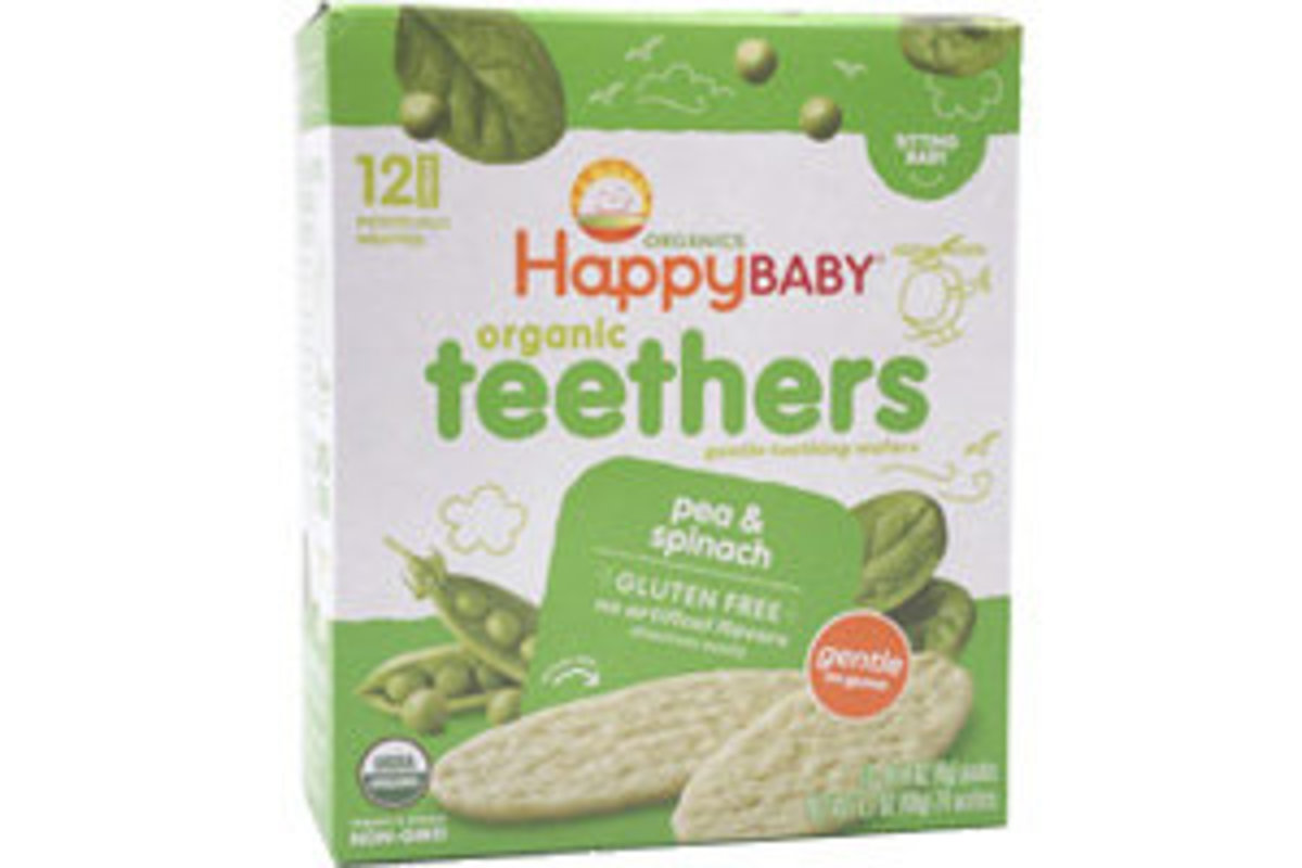 HB ORG Teething Wafers: Pea & Spinach (平行進口產品)