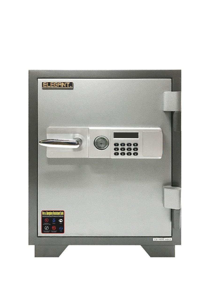 Fire & Burglary Resistant Safe (Grey)