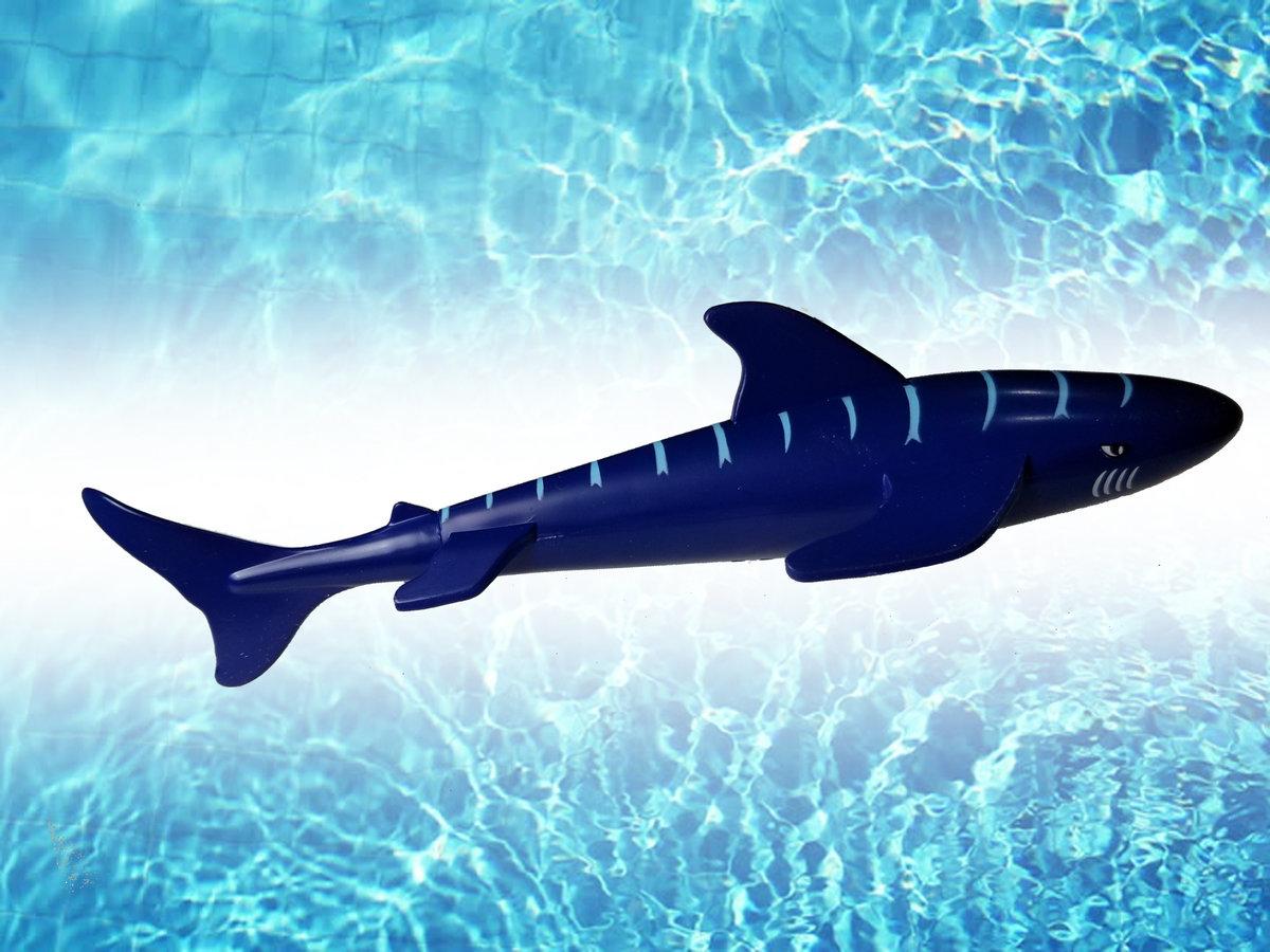 16.5 cm  Mindwalk 迷你魚雷鯊魚游泳玩具