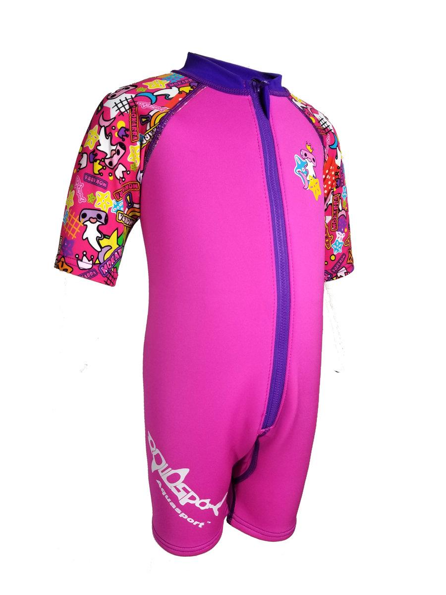1mm 幼童鯨脂橡膠防曬保暖衣 (粉紅色)