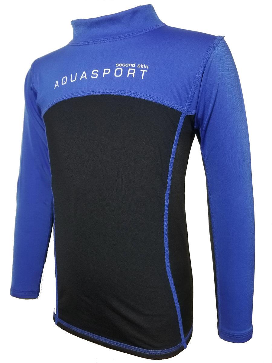 Thermal Fleece Top (Black / Blue)
