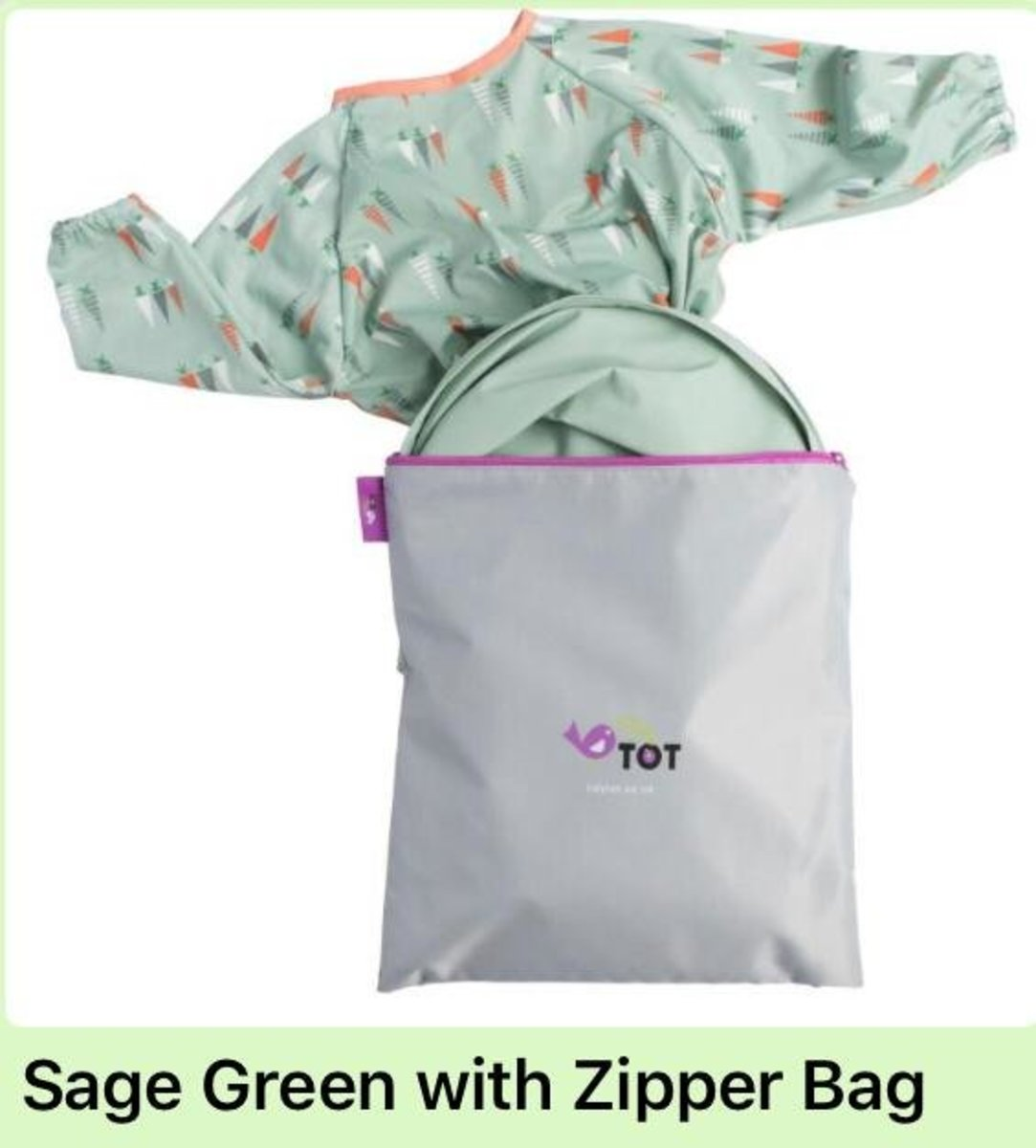 Tidy Tot All-In-One Bib & Tray Kit (with zipper bag)