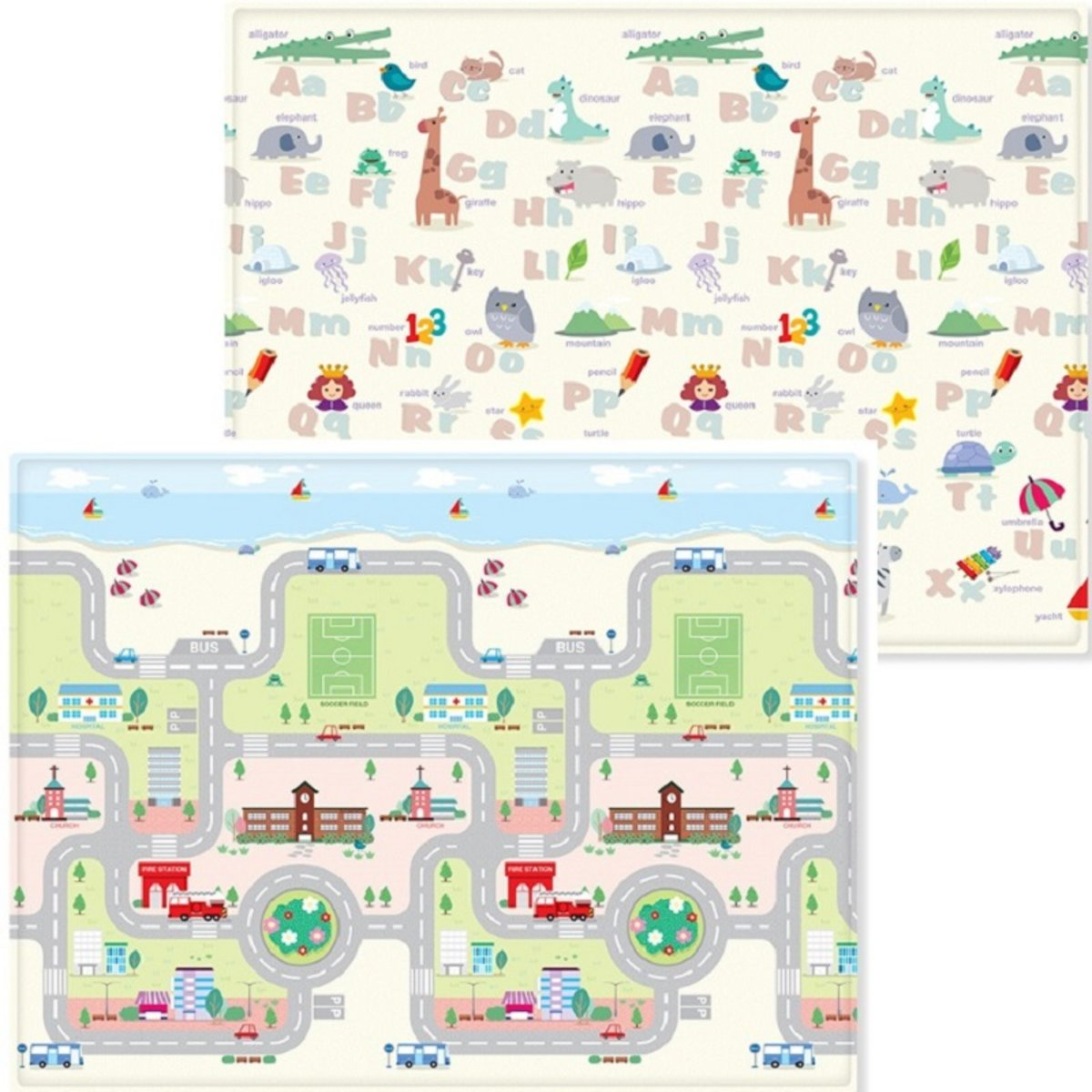 Korea Baby Safety Play Mat Playing Car - L Size