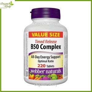 Webber Naturals 維他命 B 雜 50 (長效配方) 220 粒  220 粒膠囊