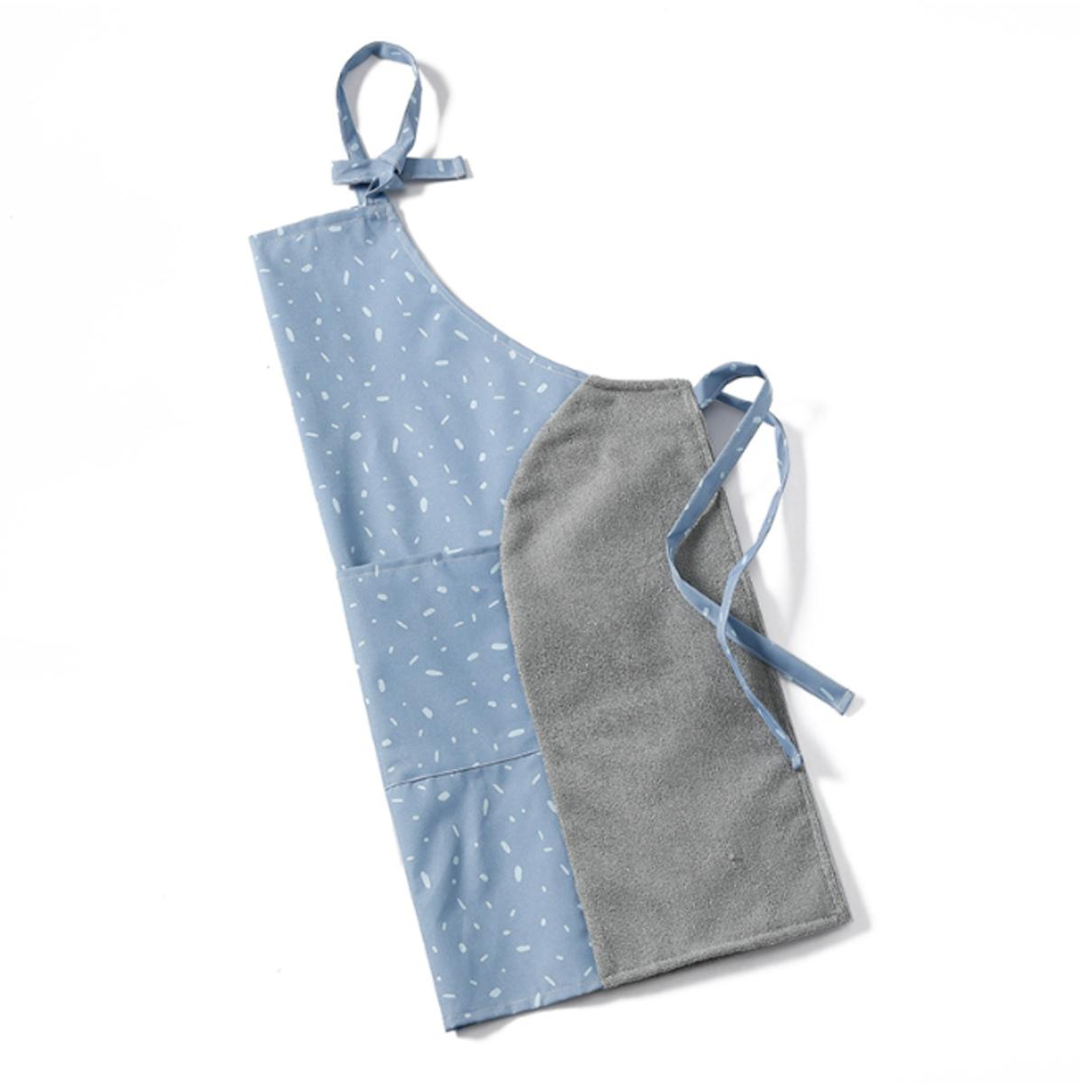 布藝可擦手圍裙(松藍色)