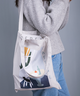 Printed Canvas Bag (White)