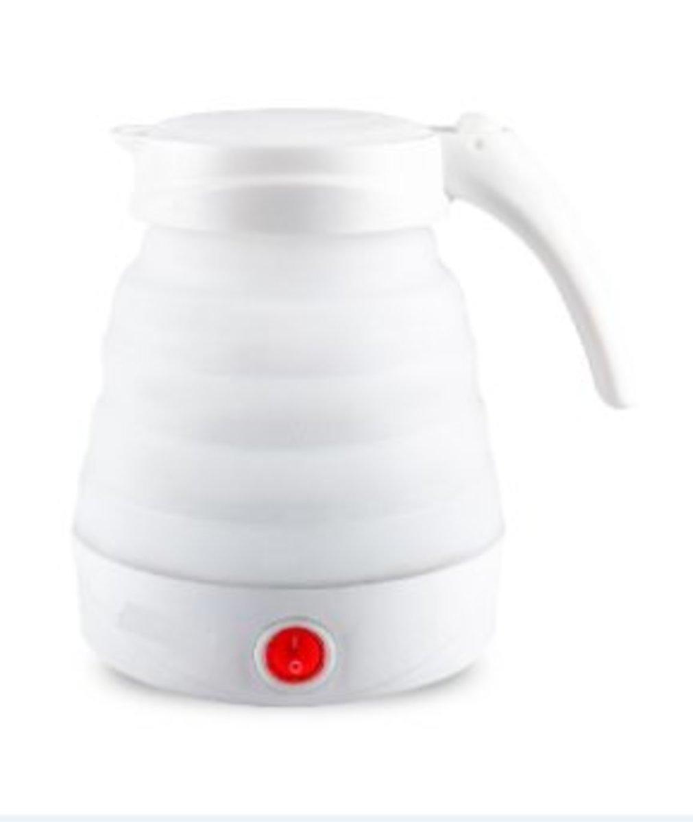 Double voltage folding travel kettle (White)