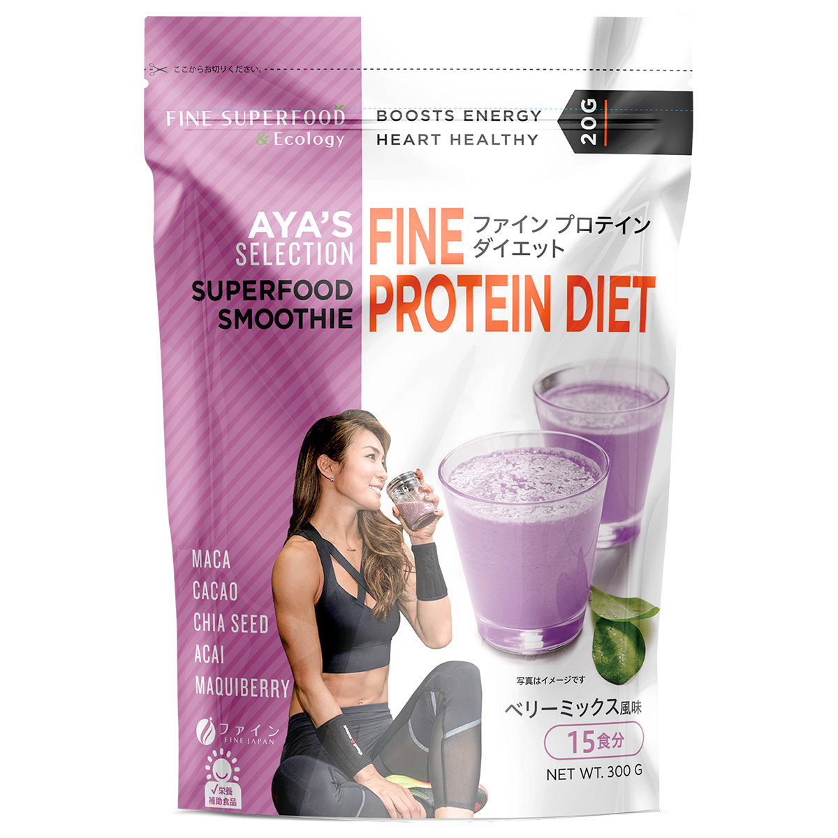 FINE AYA'S Selection Superfood Soy Protein Smoothie(Mixed  Berry) 300g (013261)