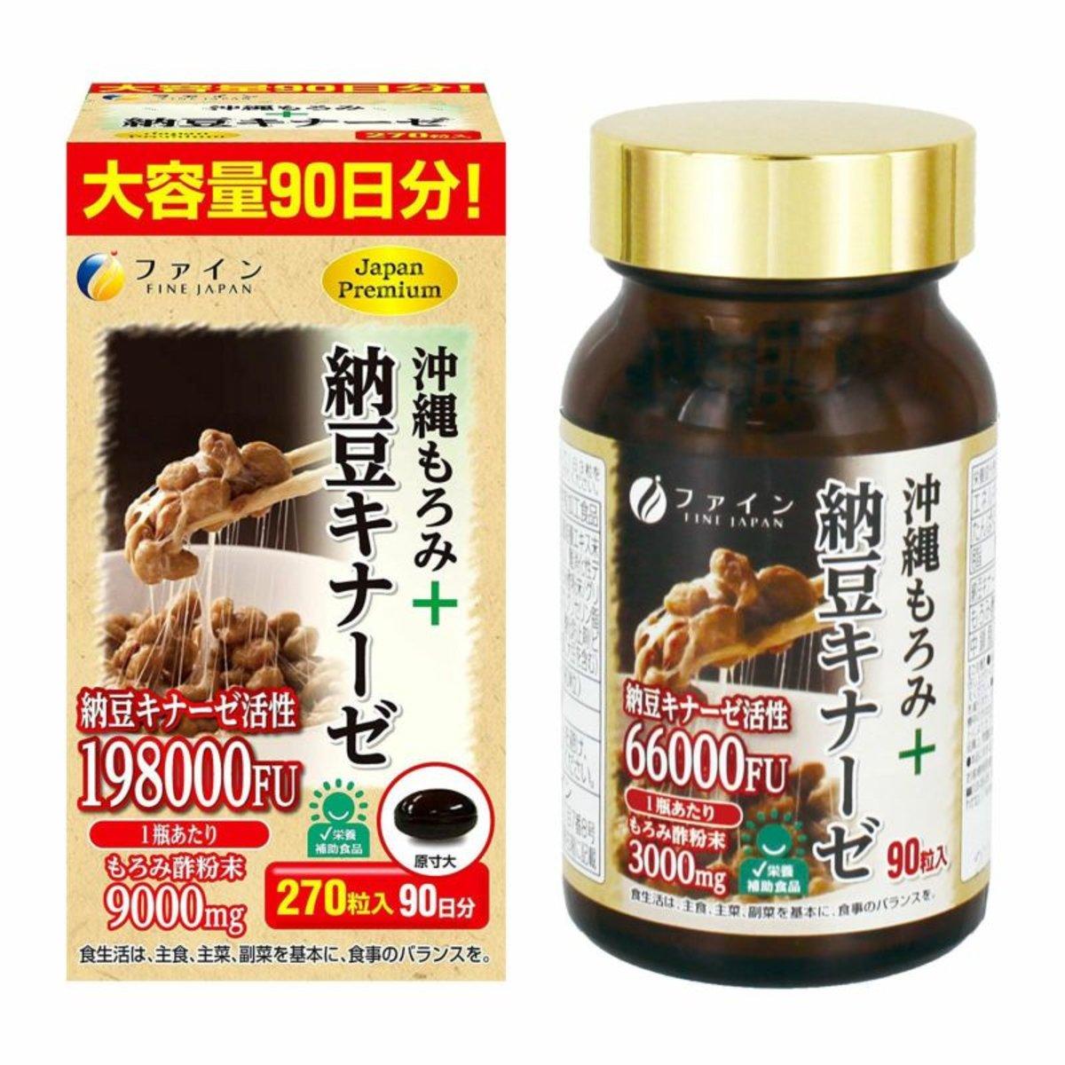 FINE Natto Kinas+Okinawa Moromi Vinegar 121.5g (450mg x 270's) (013537)