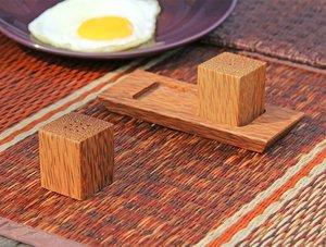 煮角 Truefun 淺木色方形胡椒/鹽瓶.  x1