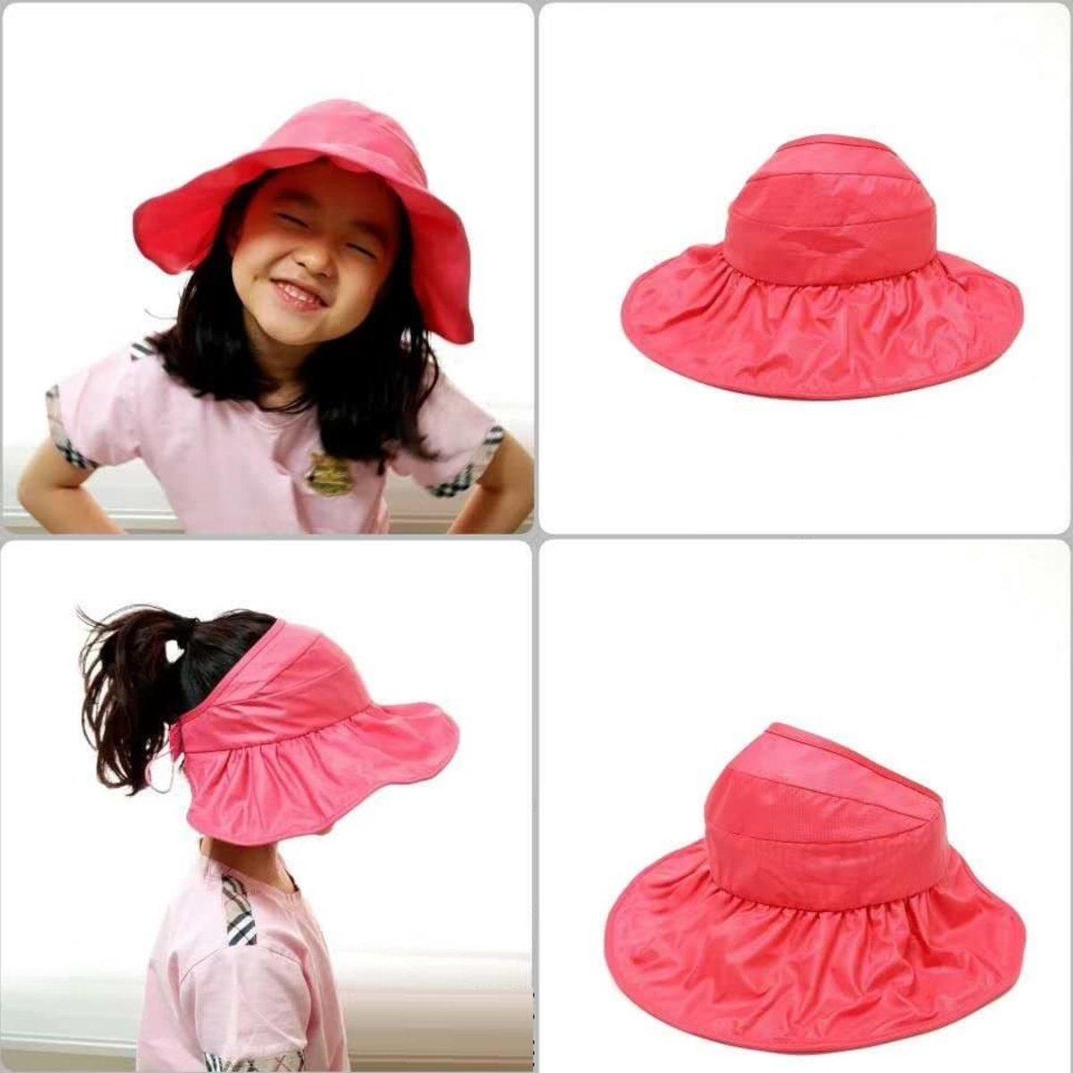 Korean-made folding anti-UV waterproof sunscreen hat (children)