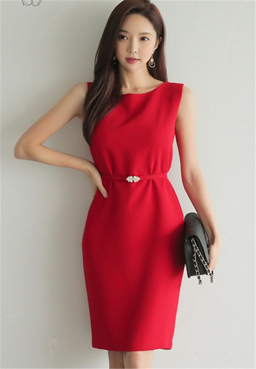 Temperament Sleeveless Slim Vest Dress