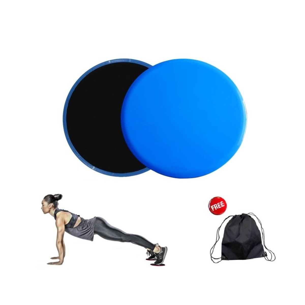 Kzhouse 2 Exercise Sliders Fitness Workout Sliders Gliding Discs