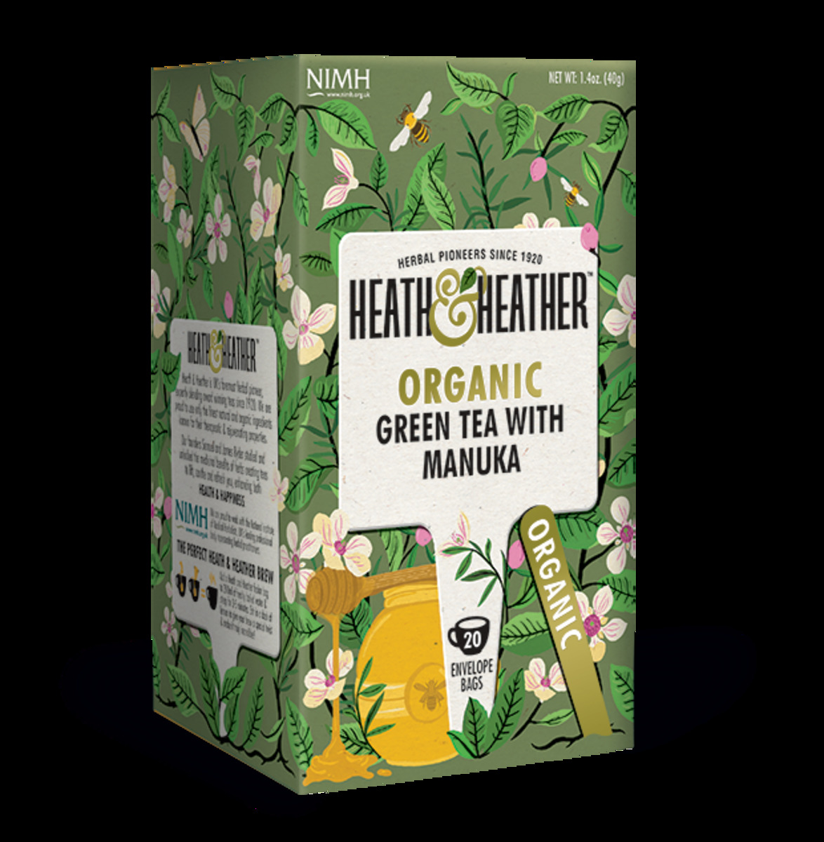 HEATH & HEATHER Organic Green Tea with Manuka 20bags(Parallel Import)