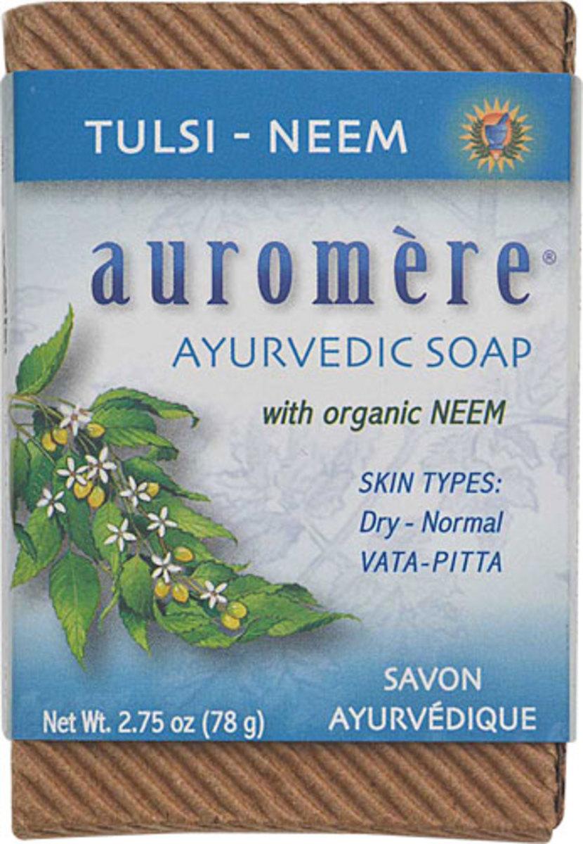 AUROMERE AYURVEDIC Soap(Tulsi Neem) 2.75oz 8oz (78g)(Parallel Import)