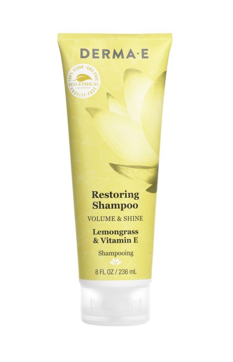 Derma E Restoring Shampoo (Lemongrass & Vitamin E) 8 OZ(236ml)(Parallel Import)