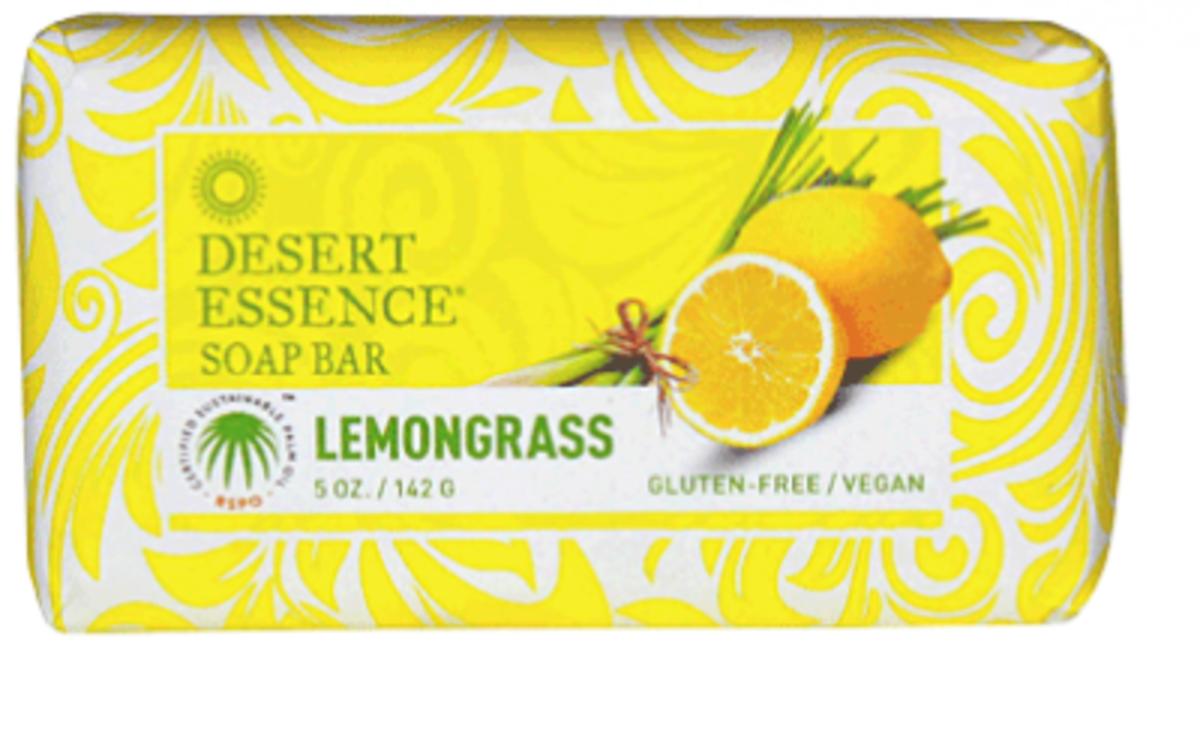Desert Essence Lemongrass Bar Soap 5 OZ (142g)(Parallel Import)