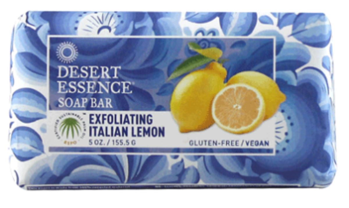Desert Essence Exfoliating Italian Lemon Bar Soap 5 OZ(142g)(Parallel Import)