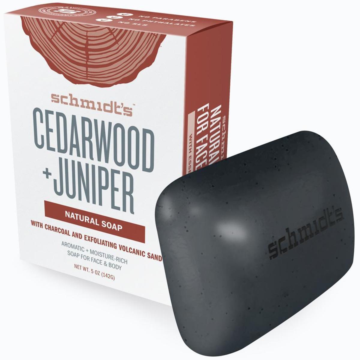 SCHMIDT'S Natural Soap- Cedarwood + Juniper  5oz (142g)(Parallel Import)