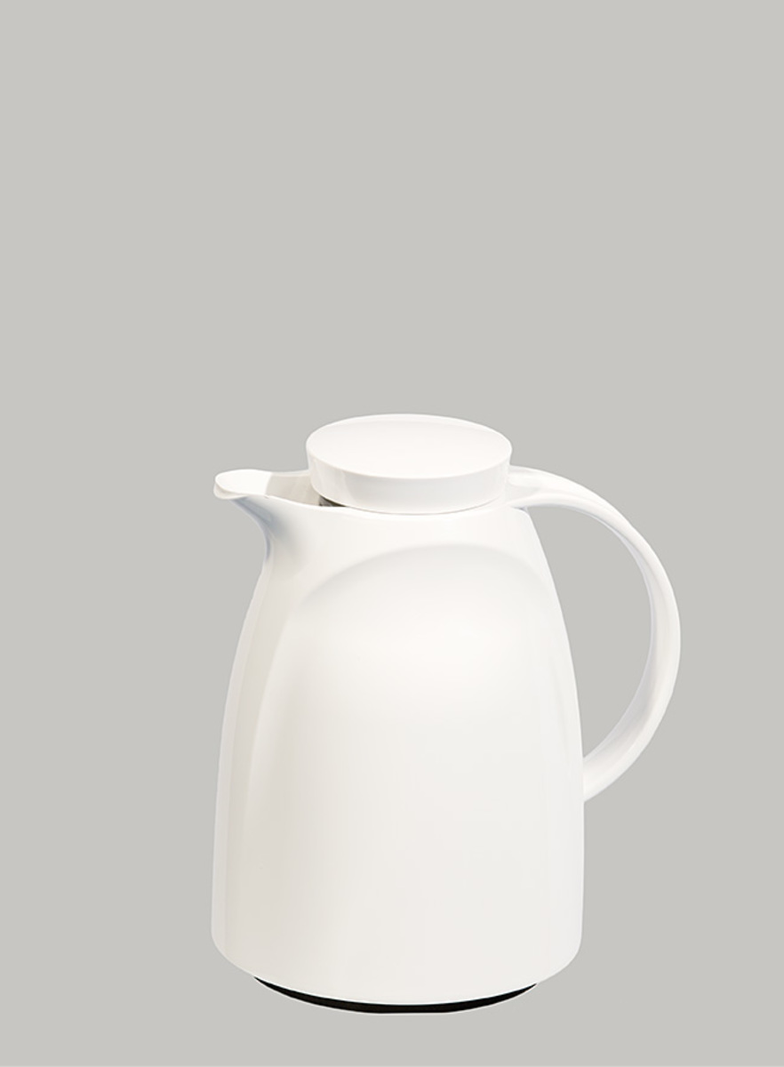 Vacuum Jug (Glass Liner) 1000ml White (Made in Germany)