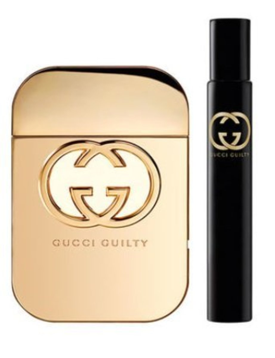 Gucci Guilty GIFT SET EDT Spray 75ML Fragrance Pen 7.4ML For Women