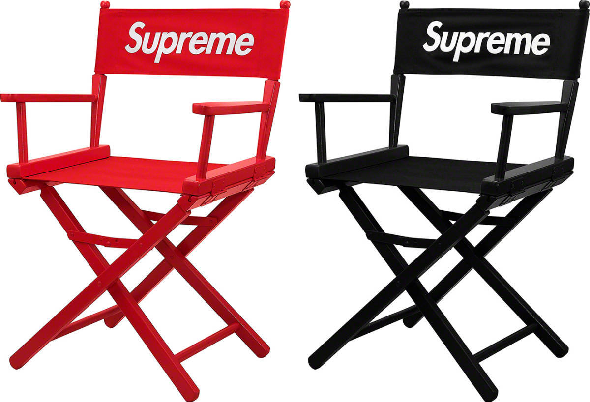SUPREME 19SS DIRECTOR''S CHAIR (BLACK)
